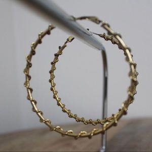 Gold Hoop Wrapped Earrings